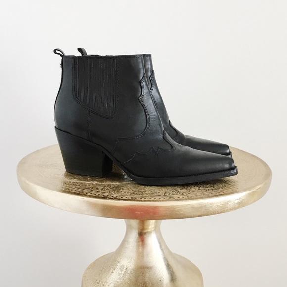 c7fa53d29 Sam Edelman Black Winona Western Ankle Booties